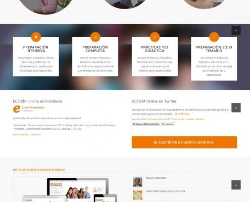 Nueva web de ECOEM Formación