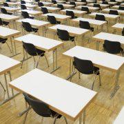Sala de examen de oposiciones a maestros, secundaria y F.P.